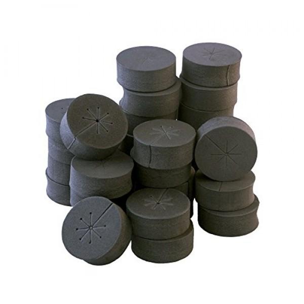 30 Pack 2 Black xGarden Clone Collars - Advanced Spoke Design - P...