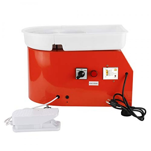 25CM 350W Electric Pottery Wheel Machine Ceramic Caly Work Forming...