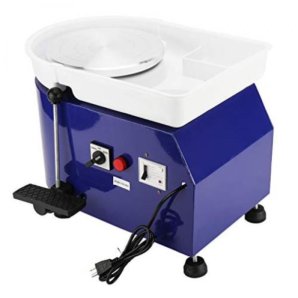 25CM 350W Electric Pottery Wheel Machine Ceramic Work Forming Mach...