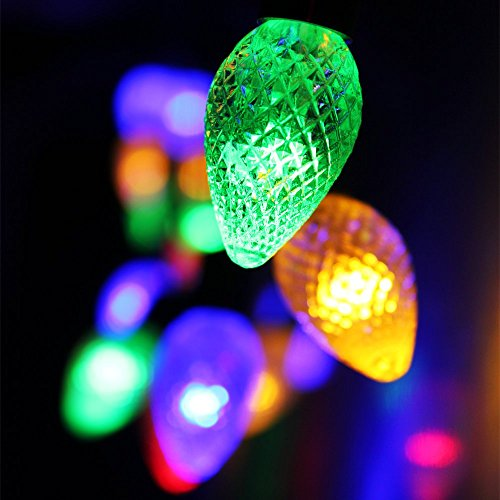 cone battery operated led christmas lights 2 work modes rgby chr